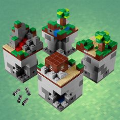 Minecraft mini, but it could be played as Sky block, but there's multiple because there always is but they are far away so you have to build out to them