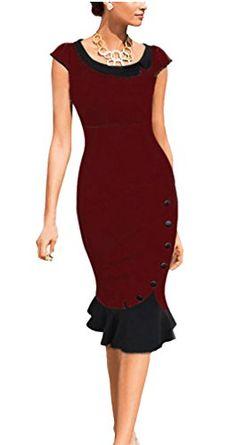 BAIMIL Women Round Neck Contrast Vintage Bridesmaid Party Dress Burgundy S BAIMIL http://www.amazon.com/dp/B011UE5YNM/ref=cm_sw_r_pi_dp_8vLYvb1M0Y7PR