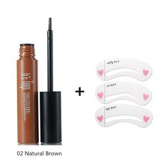 Eye Brow Makeup 3D Peel Off Eyebrow Gel + Eyebrow Stencil WODWOD Brand Long Lasting Natural Eyebrow Tint Tattoo Mascara