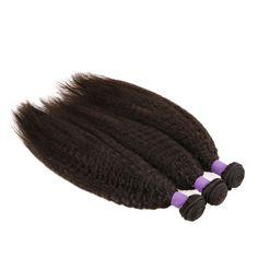 【Grade 6A】Cheap Indian Virgin Hair Weave Kinky Straight 3 Bundles 8-30 Inch Natural Black 300g
