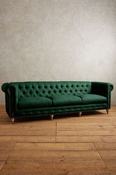 Linen Grand Lyre Chesterfield Sofa, Wilcox - anthropologie.com