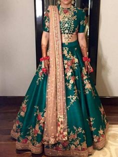 If you are looking for customize bridal lehenga on your wedding or for party wear, then visit Zardozi Fashion and make to order from Us. We are the top famous designer manufacturers for all kind of zardozi bridal lehenga and dresses. Designer Bridal Lehenga, Bridal Lehenga Choli, Silk Lehenga, Anarkali, Lehenga Choli Designs, Wedding Lehenga Designs, Mehendi Outfits, Indian Bridal Outfits, Indian Dresses