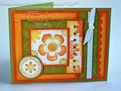 Greeting Card Happy Thoughts Modern Floral Thinking of by JanTink, $5.95
