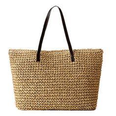 GSP Women Straw Shoulder Beach Bag Colour Beige GSP http://www.amazon.co.uk/dp/B00KKEYHQY/