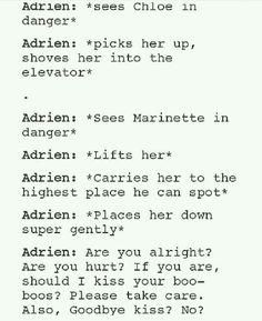 adrien soooo likes marinette