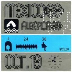 Boleto para la competencia de natación, México 68