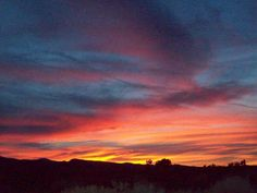 High Desert sky over my Ranch in Southern California ~ View from my  window, 2012