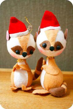 Felt ornaments from Japan