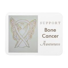 Bone Cancer Awareness Ribbon Angel Magnet