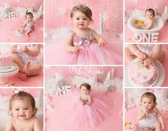 Pink and silver winter onederland cake smash, first birthday, pink and white, snowflakes, tutu dress Birthday Cake Smash, Baby Birthday, Birthday Photography, Newborn Photography, Cake Smash Pictures, Photographing Babies, First Birthdays, Flower Girl Dresses, Bloom