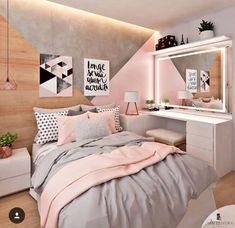 50 pink bedroom decor that you can try for yourself .- 50 rosa Schlafzimmer Dekor, das Sie selbst ausprobieren können 50 pink bedroom decor that you can try for yourself out - Pink Bedroom Decor, Bedroom Themes, Dream Bedroom, Pastel Bedroom, Teen Bedroom Colors, Bedroom Ideas For Teen Girls Grey, Bedroom Small, Grey Rose Gold Bedroom, Bedroom Ideas Rose Gold