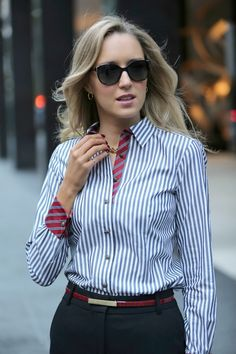 Menswear Melange - The Classy Cubicle - The Classy Cubicle // Powered by chloédigital Nyc Fashion, Office Fashion, Work Fashion, Fashion Outfits, Fashion Fall, Curvy Fashion, Fashion Trends, Office Outfits, Casual Outfits