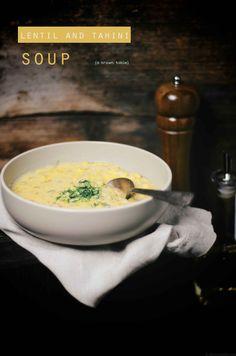 Lentil and tahini soup