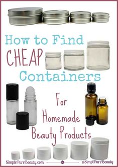 You are so excited to make some fun homemade beauty recipes, but where do you store all of your DIY beauty products? You don't want to spend more on storing them than you did making them, right? That's why I love these cheap storage ideas for all of your homemade beauty products!