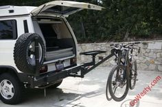 Yakima DoubleDown 2 Hitch Mount Bike Rack (2 Bikes) - GoWesty Camper Products - parts supplier for VW Vanagon, Eurovan, and Bus