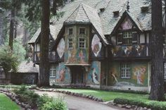 Painted by book illustrator Willy Pogany, a Hearst retreat in Northern California, Wyntoon.
