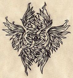 Men's Tshirt / Tee shirt Seraphim Wings & eye by PeriwynklePlace Tatoo Angel, Arlo Tattoo, Body Art Tattoos, Tatoos, Seraph Angel, Real Angels, Winged Eye, Angel Drawing, Occult Art