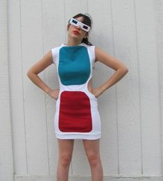 3D sunglasses dress