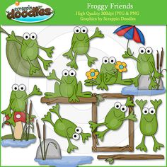 Froggy amigos Clip Art