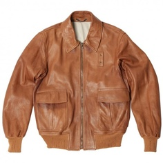 cognac lamb skin jacket
