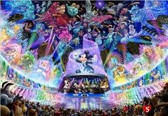 "Jigsaw Puzzles 2000 Pieces Hologram ""Disney Orchestra"" Tenyo 2000 604 