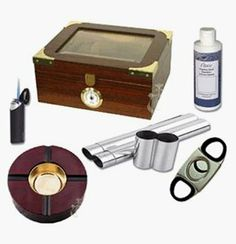 The Elegant 2550 Cigar Glass Top Humidor Kit * Details can be found by clicking on the image. Cigar Accessories, Decorative Accessories, Decorative Boxes, Buy Cigars, Cigar Tube, Cigar Humidor, Torch Light, Home Kitchens