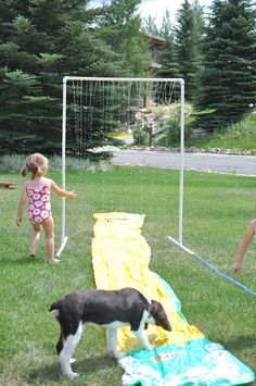 PVC DIY SPRINKLER system for the children... love this! by Lindsay Redd, via Flickr