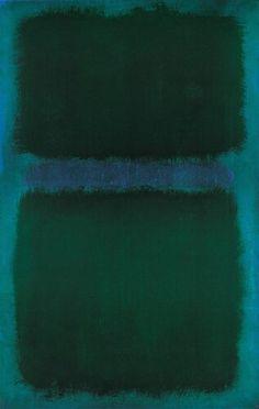 Mark Rothko, blue green blue, 1961