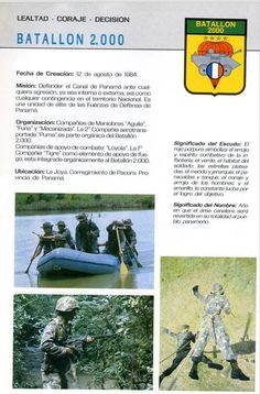 Batallón 2000 , FFDD de Panamá, 1987.