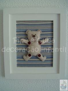 (DO 0071) Quadro decorativo ursinho