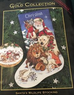 Dimensions-Gold-Collection-8566-SANTA-S-WILDLIFE-STOCKING-Counted-Cross-Stitch