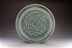 "Elaine Coleman, ""Herd of Birds"", thrown porcelain with celadon glaze - Sherrie Gallerie"