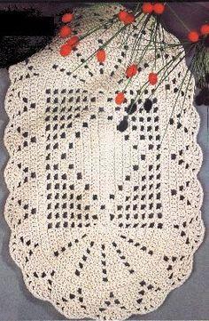 The Snow is Dancing pattern by Darma Bregoli Crochet Diy, Crochet Home Decor, Crochet Chart, Thread Crochet, Love Crochet, Filet Crochet, Crochet Stitches, Crochet Table Runner, Crochet Tablecloth