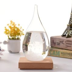 This Storm Glass Weather Predictor Was Thought to be able to Predict the Weather! #weatherprediction Weather Predictor, Home Gadgets, Beautiful Gift Boxes, Decorative Accessories, Birthday Gifts, Great Gifts, Make It Yourself, Glass, Creative