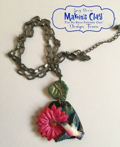 Makin's Clay® Blog: Beauty in Bloom Pendant by Lucy Reese