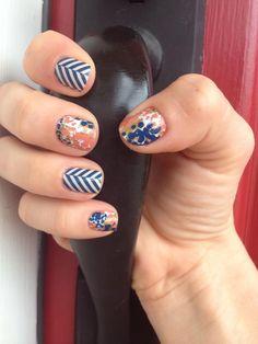 #SlattedHerringbone and #Glam from Jamberry Nails. www.snorman.jamberrynails.net