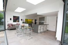 Modern White Kitchen Extension - Modern high gloss kitchen extension - Discover more at www.lwk-home.com