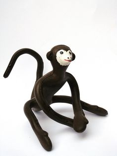 Zizí the Monkey, expanded polyurethane foam with a twisted wire core and hand-painted face, Bruno Munari, 1952