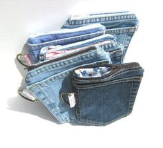 20 Ways to Recycle Your Favorite Pair of Jeans - Reupholster Your Favorite…