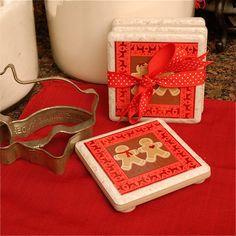 mod podge coasters - awesome hostess gift idea