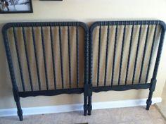 Repurposed crib headboard by AntiquedPearl on Etsy
