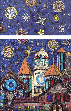 Cathedral in Starlight  I love this mosaic! It's so colorful and cool!