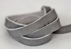 20 mm  Flat Cord, Gray Split  Leather, Genuine Leather Strap, 1 Yard by JLLeatherSupplies on Etsy