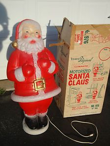 motorized santa blow mold - Motorized Christmas Decorations