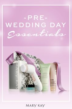 """Take some time for you before you become an """"us."""" As your wedding day approaches, treat your skin to a little pampering with this all in one set! 
