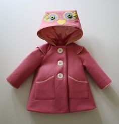 Rosie Owl Girls Coat. $155.00, via Etsy.