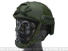 6mmProShop Bump Type Tactical Airsoft Helmet (MICH Ballistic Type / Advanced / OD Green)