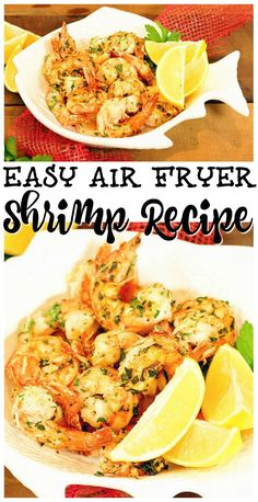 Roasted Shrimp Easy to make Garlic Parmesan Air Fryer Shrimp Recipe makes tender scampi without all the grease! Crispy, delicious and perfectly fried in just minutes - no breading required! Air Fryer Recipes Chips, Air Fryer Recipes Vegetarian, Air Fryer Recipes Breakfast, Air Frier Recipes, Air Fryer Dinner Recipes, Air Fryer Recipes Easy, Vegetarian Food, Grilled Shrimp Recipes, Roasted Shrimp