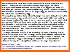The Story of an Eagle and Chickens Chicken Story, Eagle Nest, Mindset Quotes, Eagles, Motivational Quotes, Knowledge, Wisdom, Google, Eagle