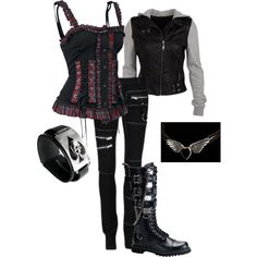 """leather and metal"" by ktmac92 on Polyvore"